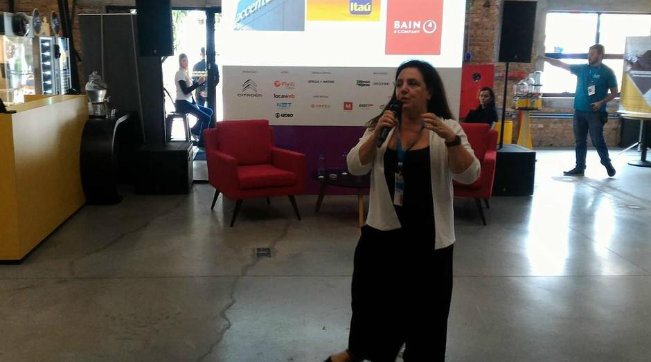 Denise Damiani no Festival de Cultura Empreendedora (Foto: Filipe Oliveira)