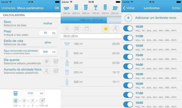 Mantenha um consumo adequado de água com a ajuda desse app (Foto: Divulgação/Apple Store)