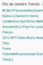 Trending Topics no Rio às 17h01 (Foto: Reprodução)