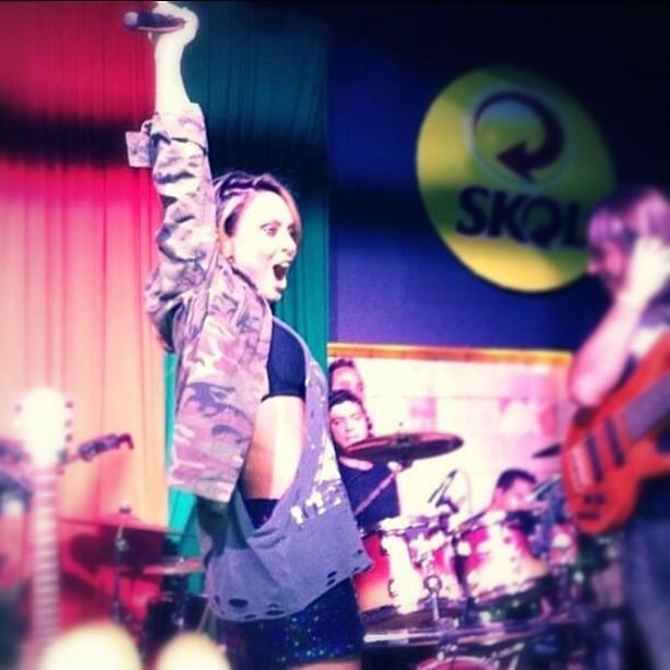 Alinne Rosa em show em Belo Horizonte, Minas Gerais (Foto: Instagram/ Reprodução)