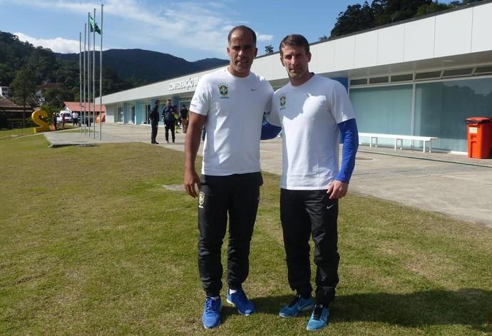 Felipe e Pedrinho CBF (Foto: Rodrigo Cerqueira)