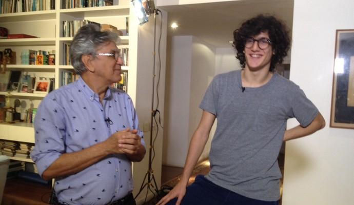 Caetano Veloso e Tom Veloso (Foto: Jefferson Rodrigues)