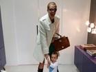 Ana Hickmann mostra filho pedindo para que ela não saia de casa
