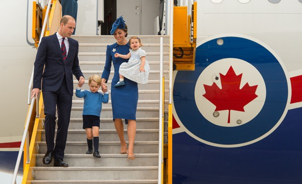 Família real inglesa durante visita ao Canadá (Foto: Getty Images)