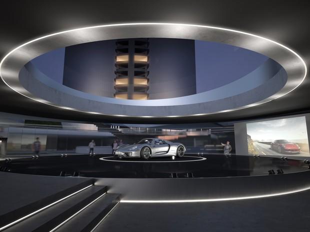 Lounge para apreciadores de carros integra o projeto da Porsche em SC (Foto: Divulgação)