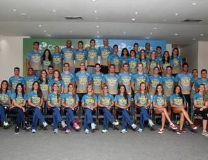 Apresentação do time brasileiro de esportes aquáticos para o Rio 2016 CBDA natação