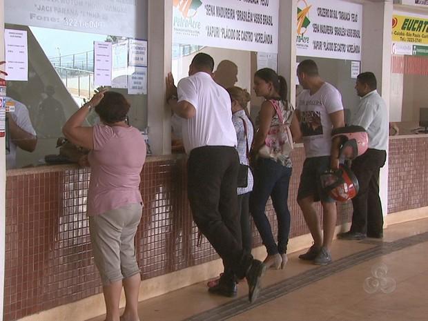 Rodoviária Rio Branco  (Foto: Reprodução/TV Acre)