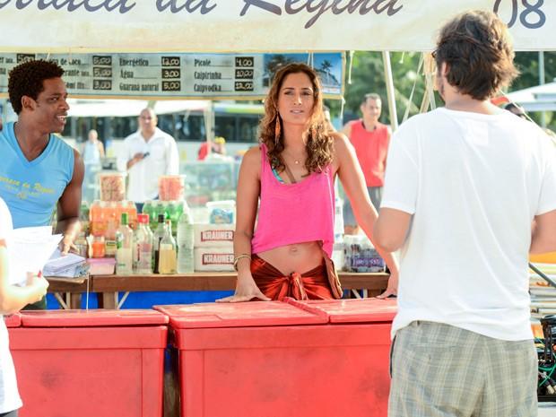 Cenas estão sendo gravadas no Leme, com direção de Cristiano Marques (Foto: Ellen Soares /Gshow)