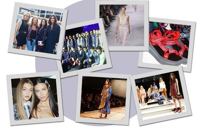 Sexta-feira agitada na MFW (Foto: Arte Vogue Online)