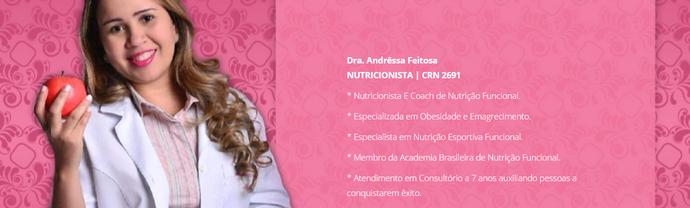 Andressa Feitosa - nutricionista (Foto: imagem/Divulgação)