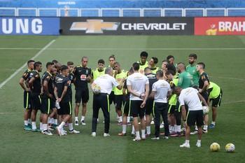 Tite treino da seleção brasileira (Foto: Pedro Martins / MoWA Press)