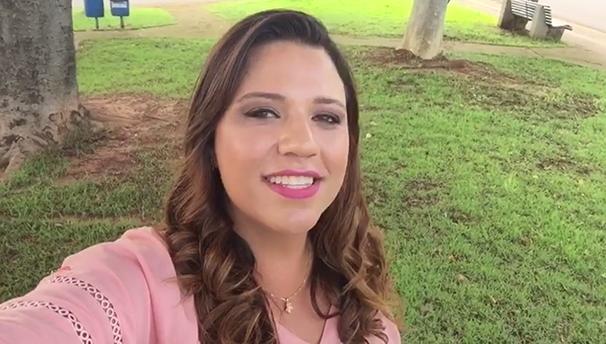 Katiuscia Reis visita o Jardim Cinquentenário, nesta quarta (Foto: Reprodução TV Fronteira)