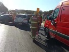 Motorista é levado a hospital após batida com três carros no DF