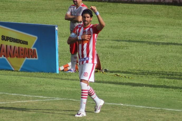 Loco Abreu marca gol de pênalti na estreia pelo Bangu (Foto: JOÃO CARLOS GOMES/BANGU)