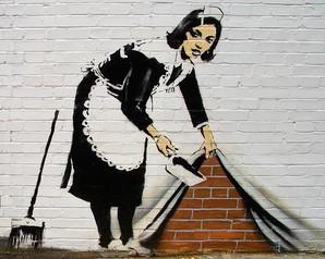 papel de parede banksy