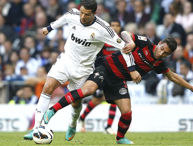 Cristiano Ronaldo, Real MAdrid e Celta (Foto: Agência Reuters)
