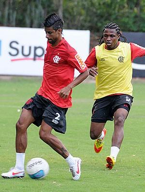 Leo moura treino Flamengo (Foto: Alexandre Vidal / Fla Imagem)