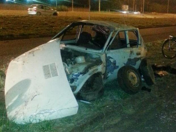 acidente Uberaba (Foto: Polícia Militar/Divulgação)