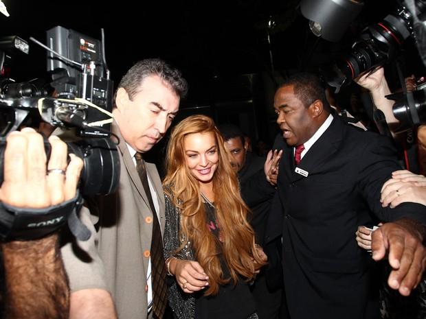 Lindsay Lohan chega em loja em São Paulo (Foto: Manuela Scarpa/ Foto Rio News)