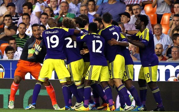 Jogo Valencia x Swansea City (Foto: Agência AFP)