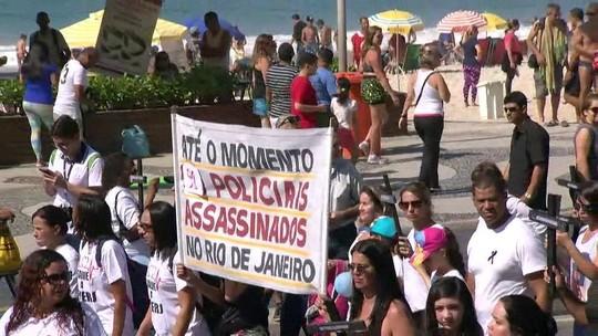 Nº de PMs mortos no Rio em 2017 chega a 91; famílias protestam