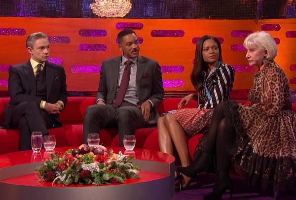 Martin Freeman, Will Smith, Naomie Harris e Helen Mirren (Foto: Reprodução)