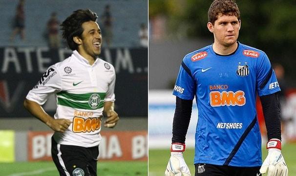 Coritiba e Santos conseguiram se afastar da zona de rebaixamento (Foto: Raphael Brauhartd / Divulgação Coritiba / Ricardo Saibun / Divulgação Santos FC)