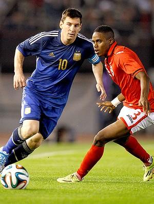 Messi jogo amistoso Argentina x Trinidad e Tobago