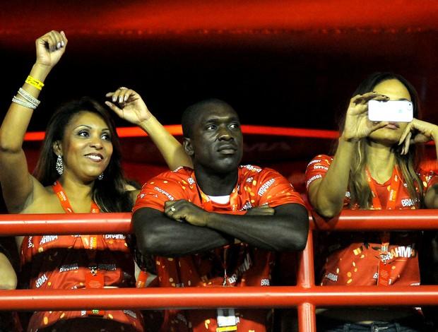 CARNAVAL: seedorf sambódromo sapucaí (Foto: André Durão / Globoesporte.com)