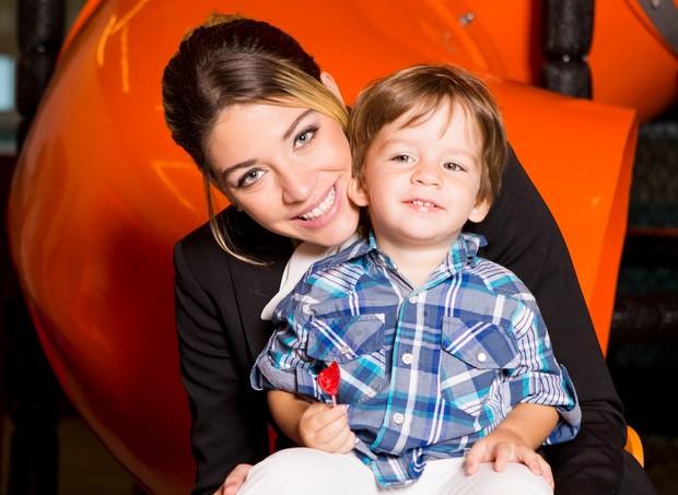 Luma Costa e o filho, Antônio (Foto: Arquivo pessoal/ Luma Costa)