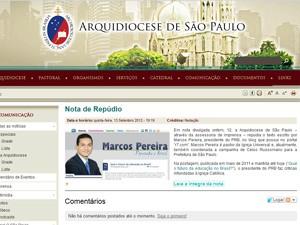 nota repúdio (Foto: Reprodução)