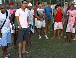 Jogadores do GEL entram em greve (Foto: Reprodução/TV Gazeta)