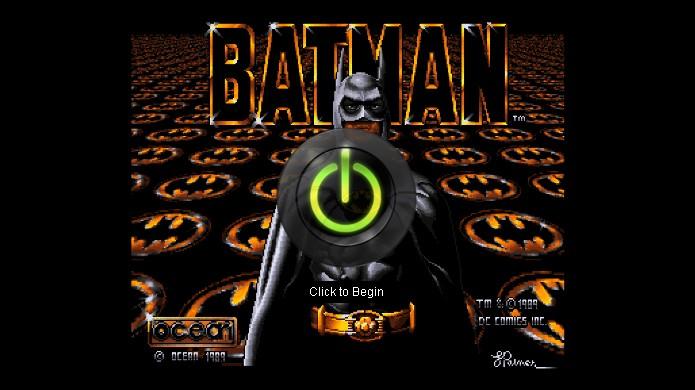 Clique no grande botão no centro da tela para começar o jogo do Amiga (Foto: Reprodução/Rafael Monteiro)