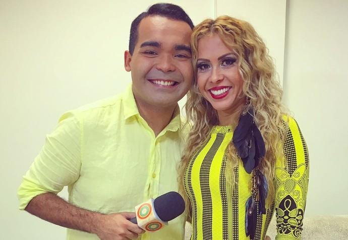 Oyama Filho entrevista Joelma (Foto: Arquivo Pessoal)