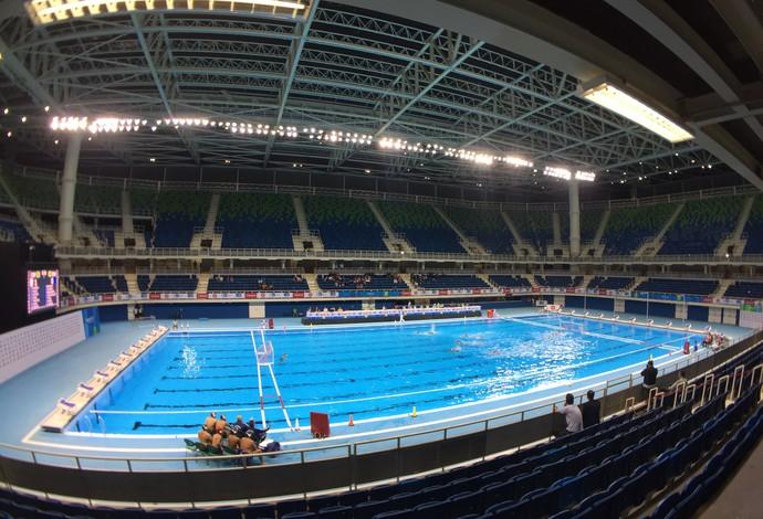 Evento teste polo aquático (Foto: Gustavo Rotstein)