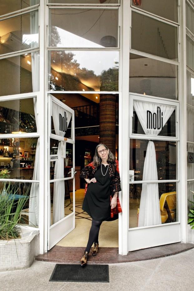Mônica Figueiredo e restaurante MoDi (Foto: Mariana Pekin / Editora Globo)