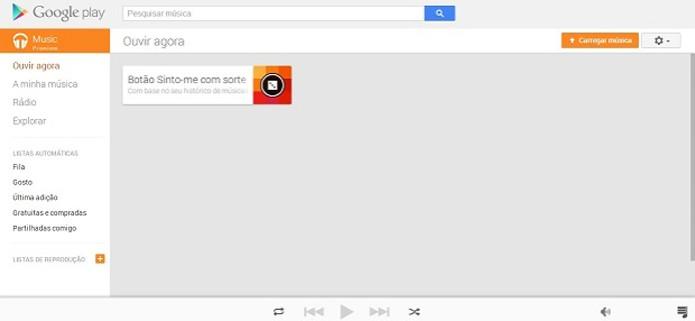 Play Music All Access do Google tem muitos recursos para armazenamento de músicas (Foto: Reprodução/Thiago Barros)
