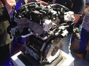 Motor da Ford é lançado na Bahia (Foto: Ruan Melo/G1)