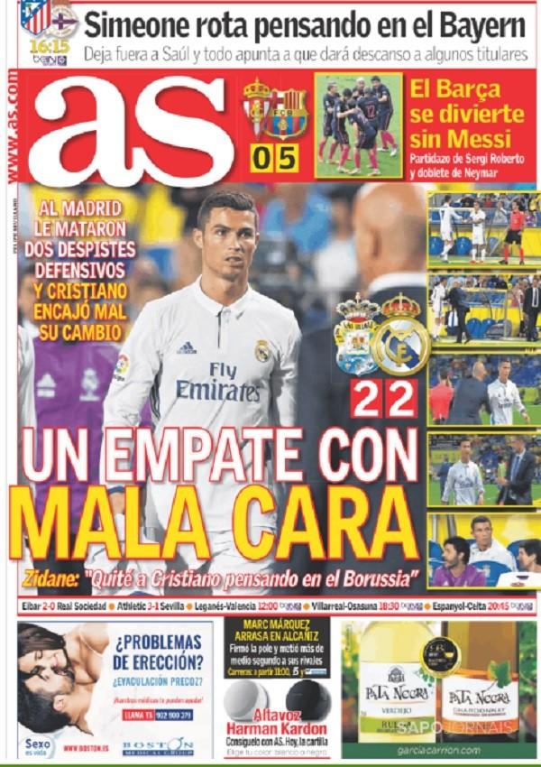 Capa AS Real Madrid Barcelona