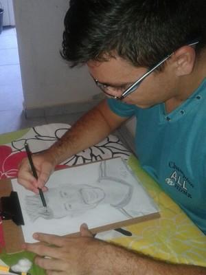 Torcedor potiguar desenho Léo Moura (Foto: Acervo pessoal)