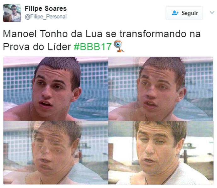 Internauta compara Manoel e Tonho da Lua (Foto: Reprodução Internet/ Reprodução Twitter @Filipe_Personal)