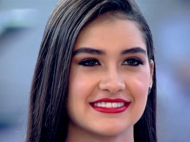 A modelo Júlia ficou linda com o make (Foto: Divulgação/TV Globo)