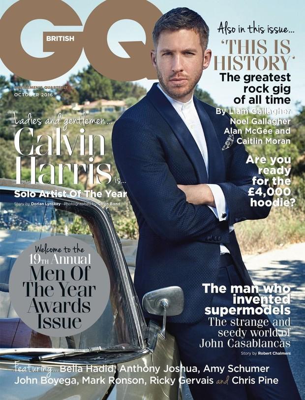 Calvin Harris na GQ (Foto: Reprodução / GQ)