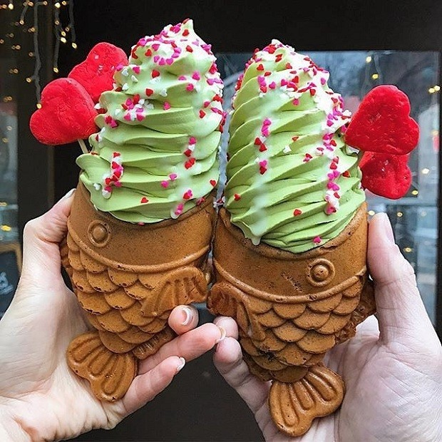 sorvete-de-casquinha-com-formato-de-peixe (Foto: Reprodução/Instagram)
