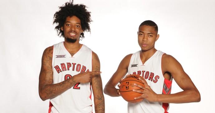 Lucas Bebê e Bruno Caboclo Toronto Raptors NBA (Foto: Getty Images)