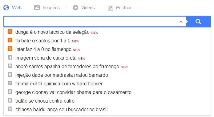 Baidu sugere buscas baseadas na localização do usuário (Foto: Reprodução/Paulo Alves)
