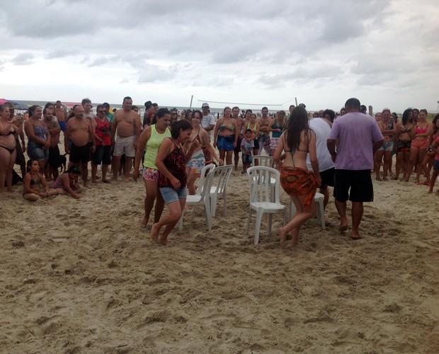 A RPC parou a praia de Ipanema com um desafio os veranistas (Foto: Divulgação/RPC)