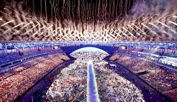 Cerimônia de abertura da Olimpíada do Rio de Janeiro (Foto: Pawel Kopczynski/Reuters)