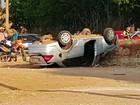 Pai, mãe e filha morrem após carro bater em estátua de Cristo em MT