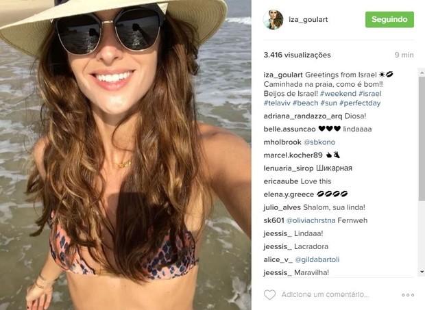 Izabel Goulart em Tel Aviv, Israel (Foto: Reprodução/Instagram)